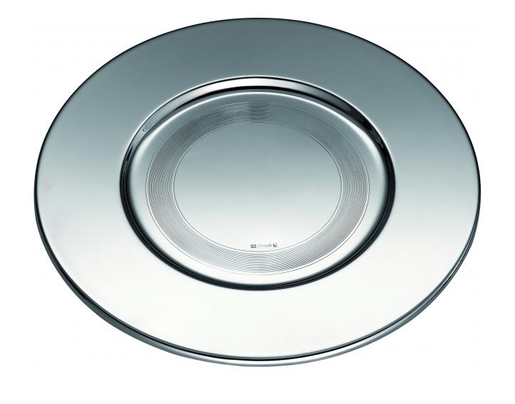 vaisselle christofle assiette de presentation fidelio 4106965. Black Bedroom Furniture Sets. Home Design Ideas