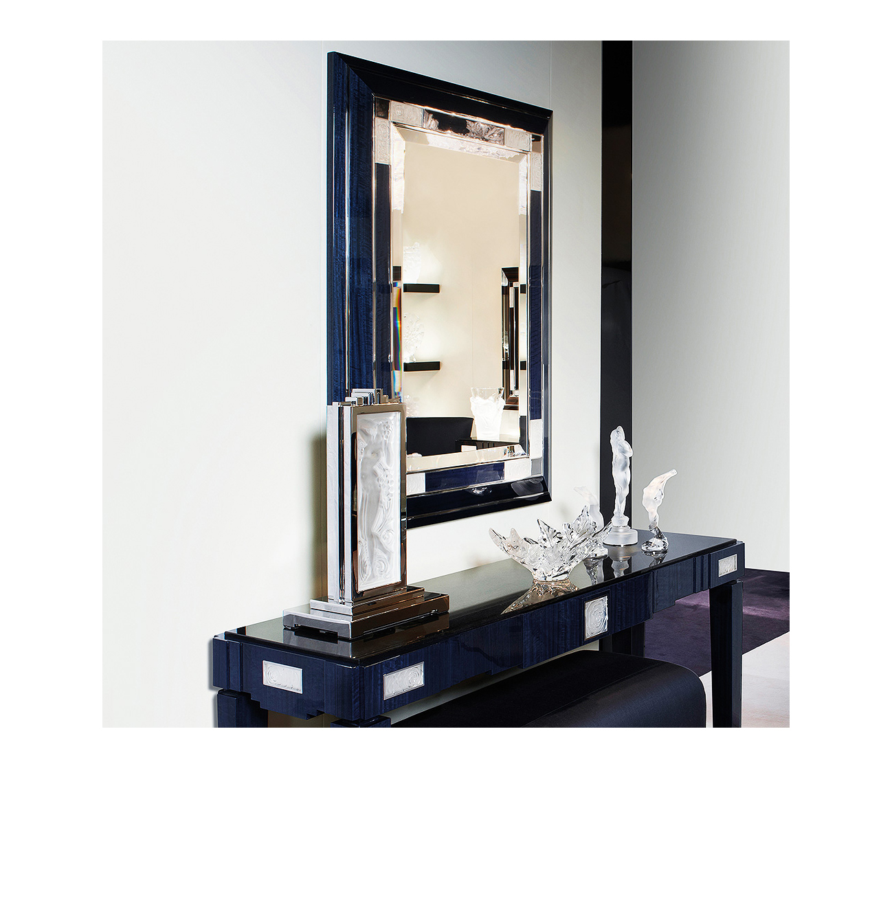 miroir lalique roses 75150000. Black Bedroom Furniture Sets. Home Design Ideas