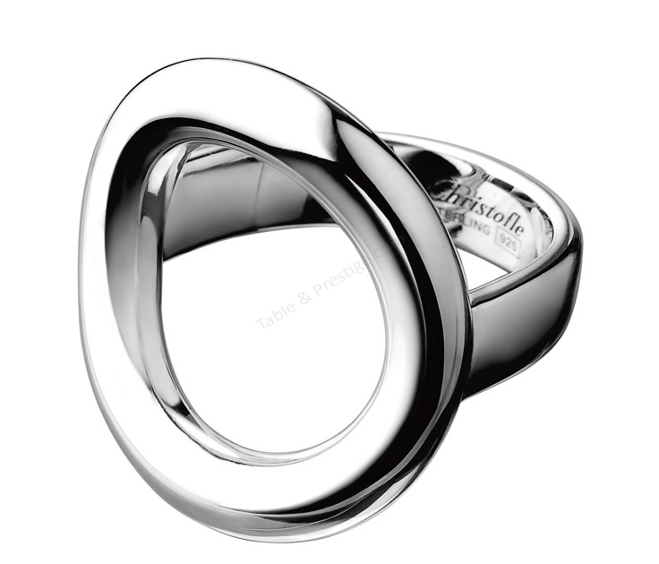 bague anneau grand modele t 49 collection 925 christofle bijoux femme argent massif. Black Bedroom Furniture Sets. Home Design Ideas
