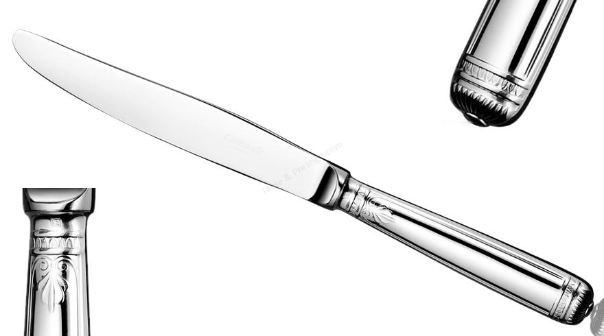 Couteau de table malmaison christofle couverts argent massif 01418009 - Couvert argent christofle ...