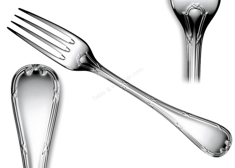 fourchette de table rubans christofle couverts metal argent 00024003. Black Bedroom Furniture Sets. Home Design Ideas