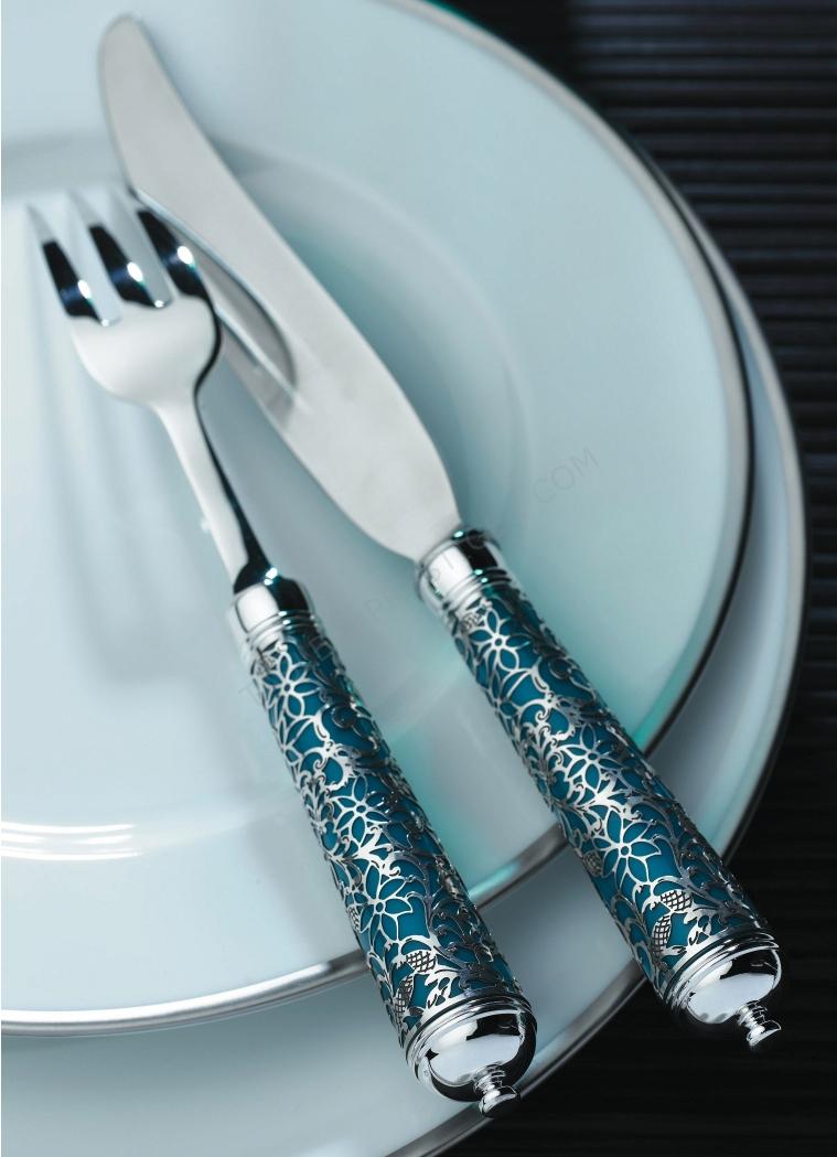 Couverts ercuis argent massif insolent argent massif bleu couteau de table 69 - Ercuis argent massif ...