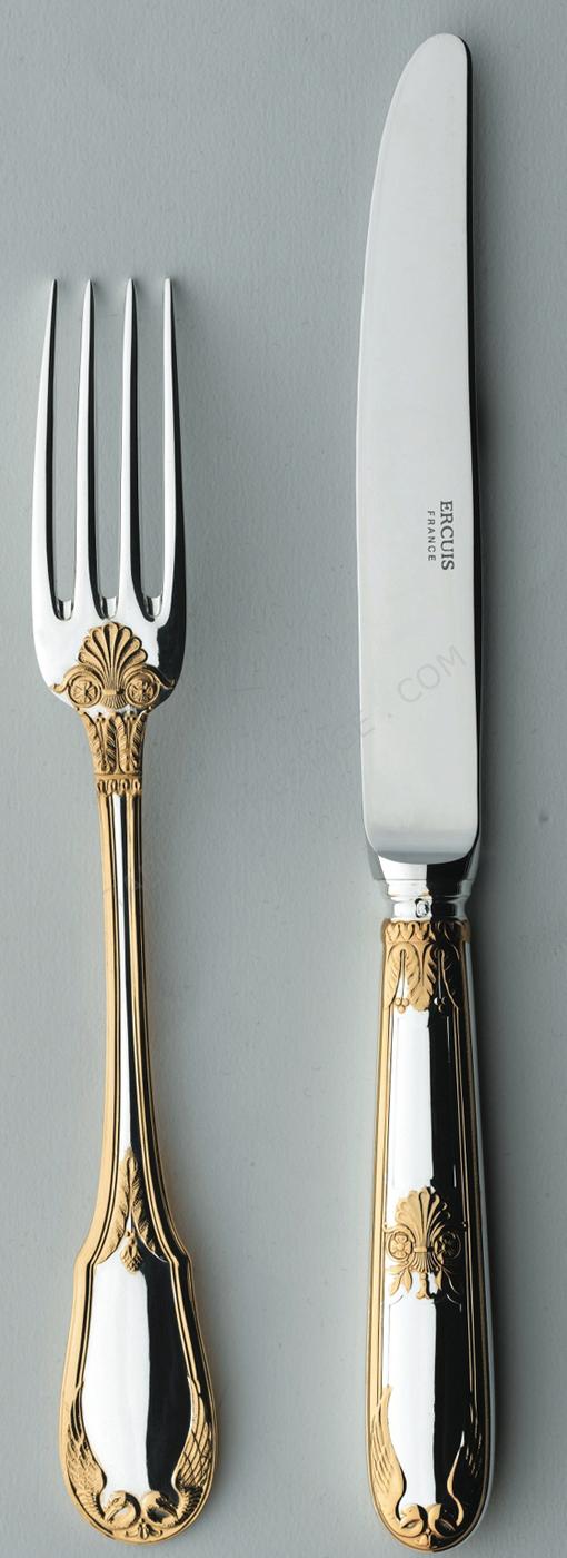 Couverts ercuis vermeil empire fourchette table 624902 - Ercuis argent massif ...