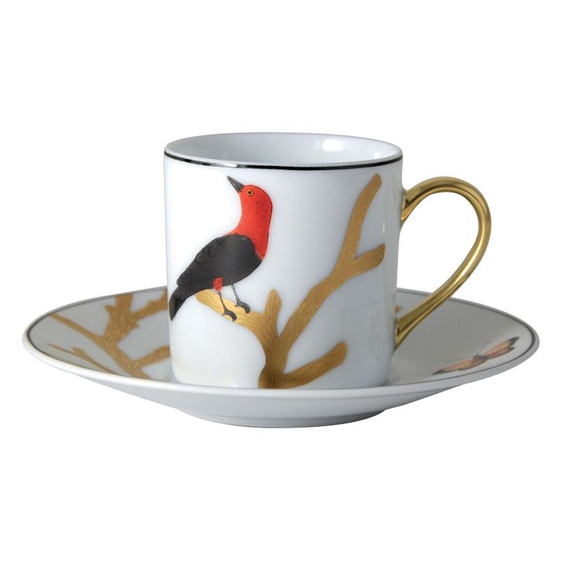 tasse cafe bernardaud aux oiseaux 2488 79 6. Black Bedroom Furniture Sets. Home Design Ideas