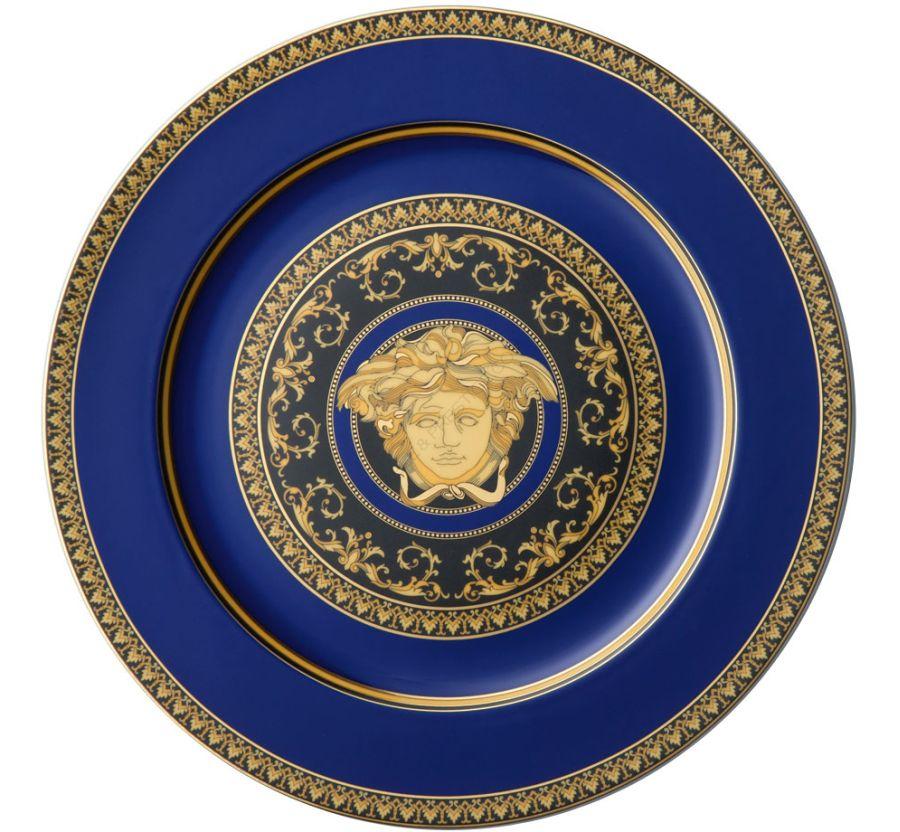 Assiette de présentation versacemedusa blue Rosenthal