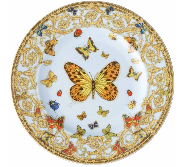 Rosenthal Monbijou Desiree verte fleurs sous assiette 19 cm assiette profondément plate
